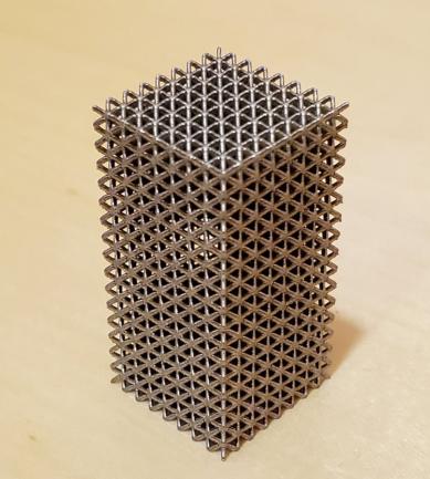 Impresión 3D de metamateriales para aplicaciones estructurales